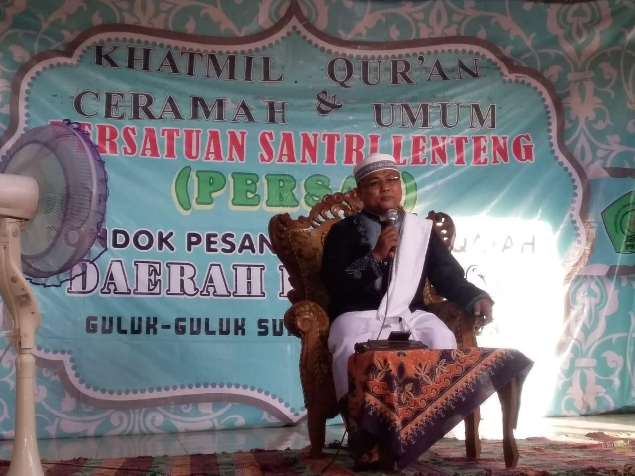 Ra Izzul Muttaqin memberikan cermah agama di acara Perdana Persal